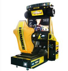 Hummer Racing Game Machine With Beautiful Cartoon Appearance / Plastic Light Box